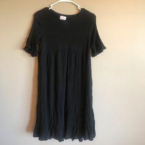 Dresses & Skirts - Maternity black midi dress 3/4 sleeves